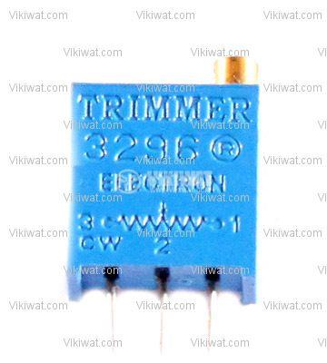 Тример потенциометър многообoротен вертикален жичен, 5 kOhm
