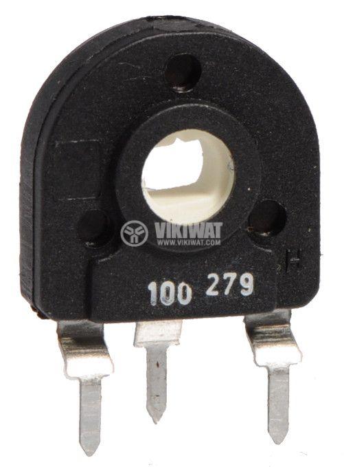 Тример потенциометър еднооборотен линеен 100 Ohm  - 1