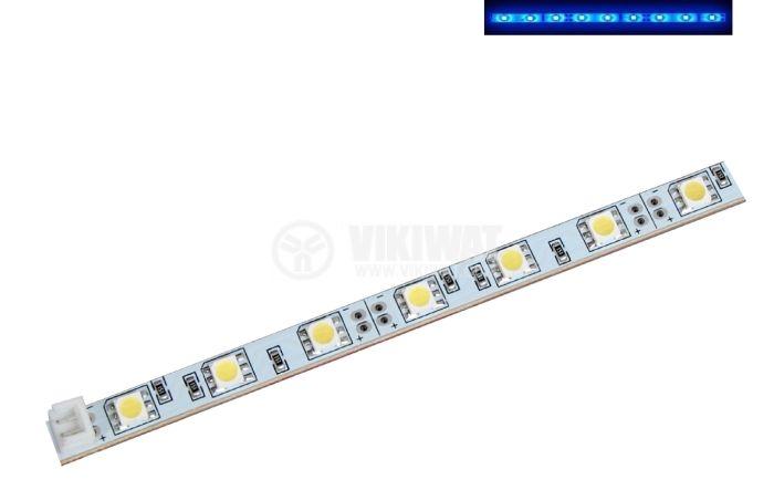 LED модул SMD5050, 30led, 7.2W, 12VDC, невлагозащитен, син - 1
