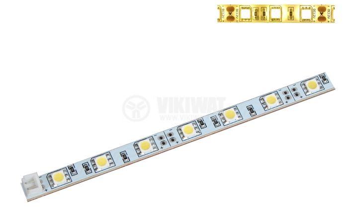 LED модул SMD5050, 30led, 7.2W, 12VDC, невлагозащитен, топло бял - 1