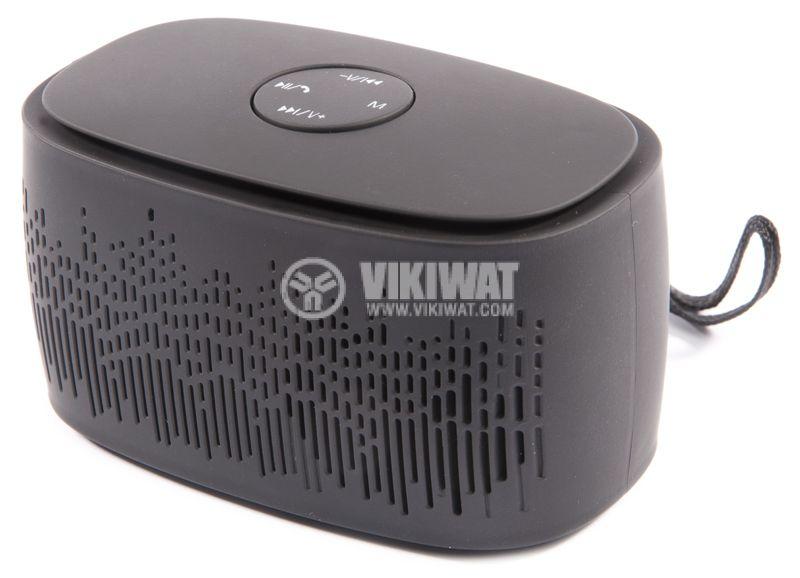 Bluetooth портативна тонколона, L3, черна, FM, USB - 2