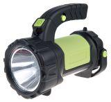 LED фенер, презареждаем, CREE+COB, 300lm, 2000mAh, черен/зелен, EMOS P4526