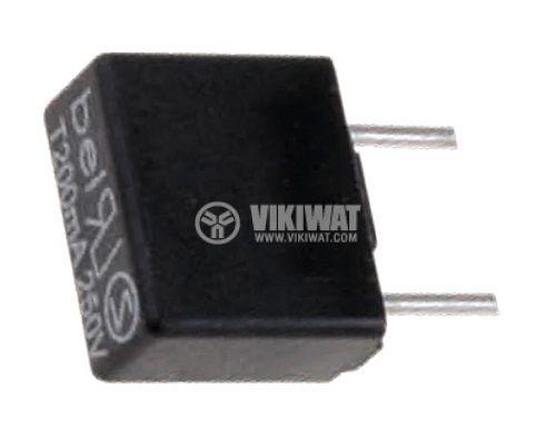 Предпазител миниатюрен бърз стопяем, RFTQ-5A, 5 A, 250 V, 8.4x4x7.7 mm  - 1