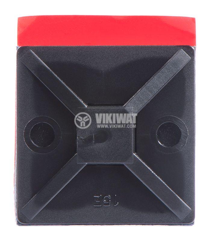 Държач за кабелни превръзки MB4APT-I, 28x28mm, черен, двойнозалепващ - 2