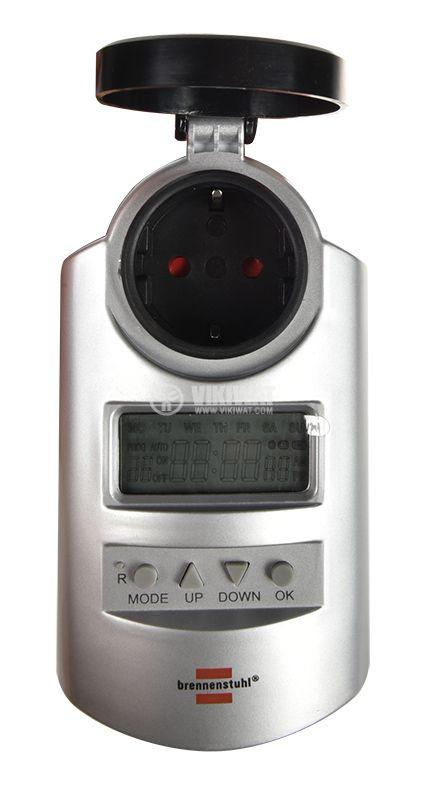 Седмичен таймер за контакт 12-24 часа Brennenstuhl DT IP44  - 6