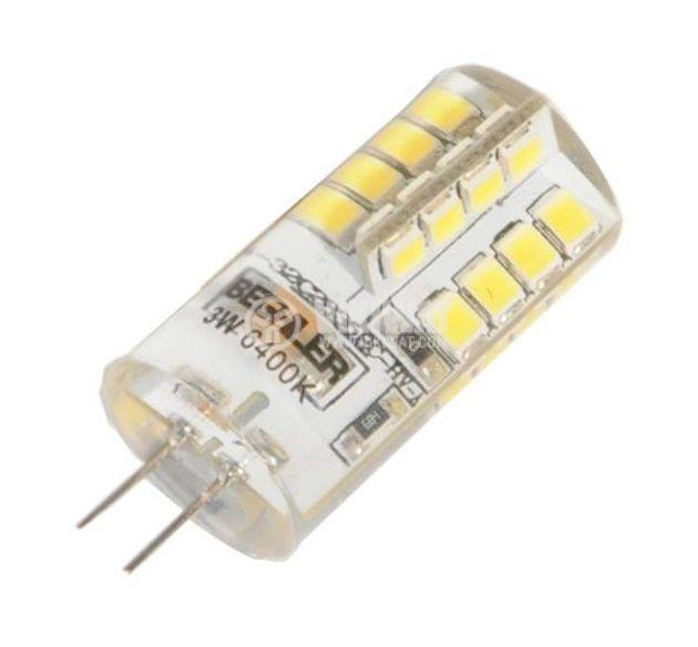 LED лампа BA23-0342P, G4, 3W, 240VAC, 6400K, студенобяла