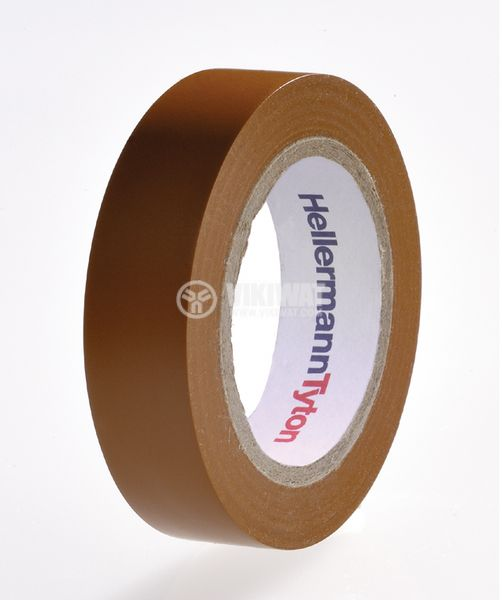PVC insulating tape, insulating tape, HELATAPE FLEX 1000+, width 19mm x length 20m, brown