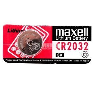 Плоска батерия CR2032, 3V, 220mAh - 1
