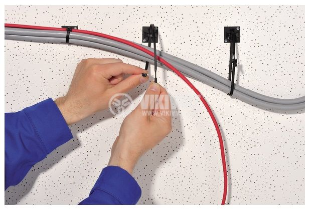 Самозалепваща се основа за кабелни превръзки QM20A-PA66-BK, 20x20mm, черна, HellermannTyton, 151-10914 - 4