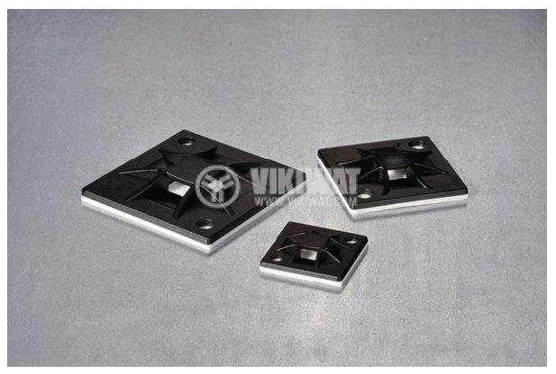 Държач за кабелни превръзки QM20A-PA66-BK, 20x20mm, черна, HellermannTyton, 151-10914 - 5