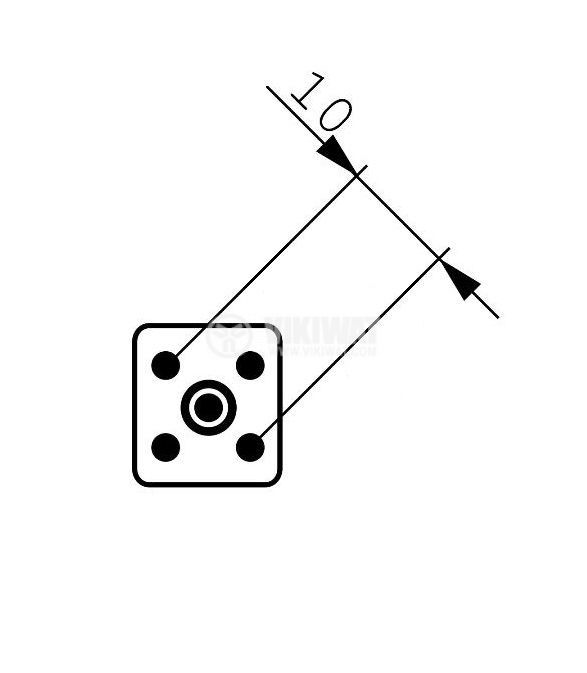 Цокъл за луминесцентен кръг или 2D лампа, GR10q, 4пина - 3
