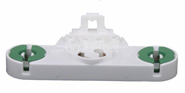 Цокъл за луминесцентна лампа T8, G13, двоен с гнездо за стартер