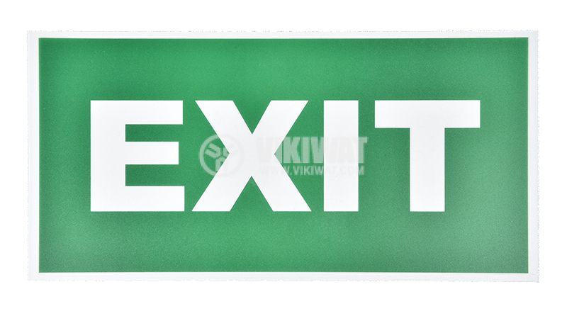 """Spare plate """"EXIT"""", BC14-01304, for LED emergency fixture BC14-01100"""