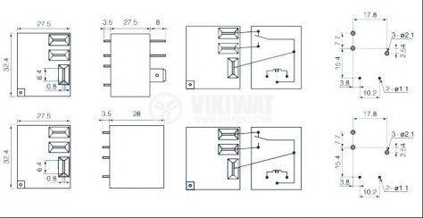 Електромагнитно реле, NT90TNAE240CB, 220VAC, 240VAC/30A, SPDT - NO+NC