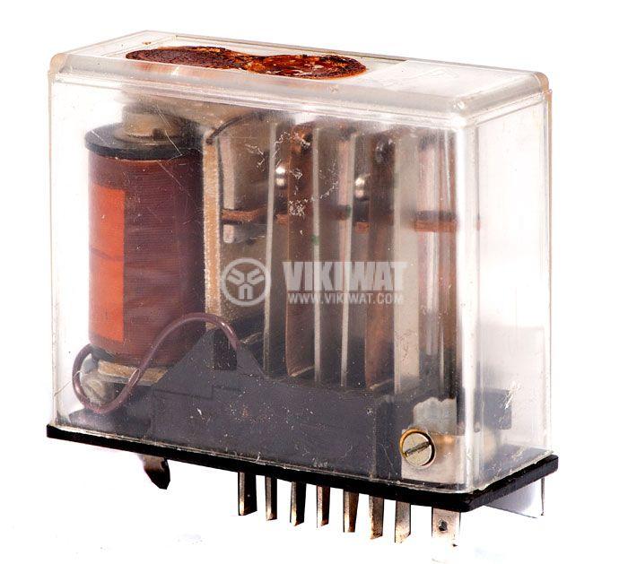 Електромагнитно специално реле бобина 24VDC  250VAC/10A 4PDT - 4NO+4NC   2 RH 01 - 1