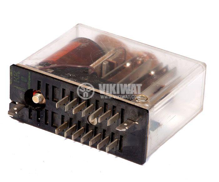 Електромагнитно специално реле бобина 24VDC  250VAC/10A 4PDT - 4NO+4NC   2 RH 01 - 3
