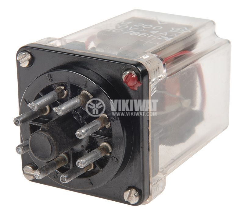 Реле 220V 4A DPDT 2NO+2NC - 3