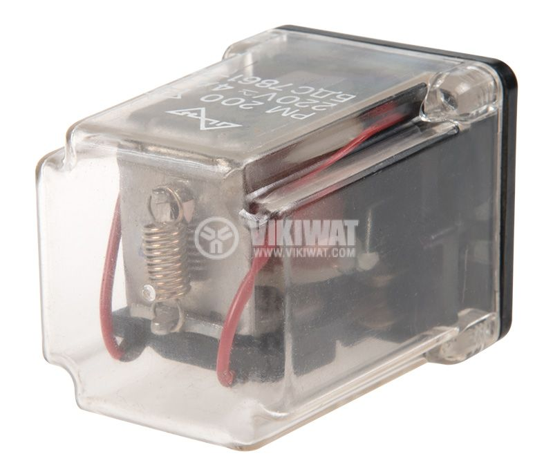 Реле електромагнитно РМ200 бобина 12V 220V 4A DPDT 2NO+2NC - 4