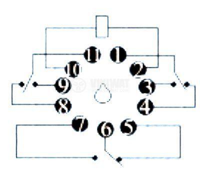 Електромагнитно реле универсално, РМ300, 12VDC 220VAC/4A 3PDT 3NO+3NC - 2