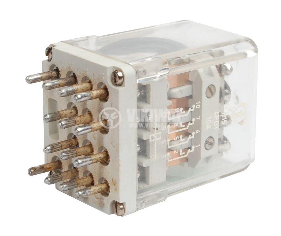 Електромагнитно универсално реле, R15, 12VDC, 220VAC/10A, 4PDT 4NO+4NC - 1