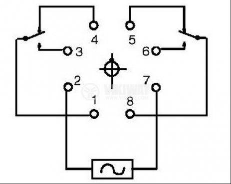 Електромагнитно реле, РМ200, 24VDC 220VAC/4A DPDT 2NO+2NC - 2