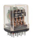 Реле електромагнитно PM405, бобина 24VAC, 220VAC/3A, 4PDT 4NO+4NC