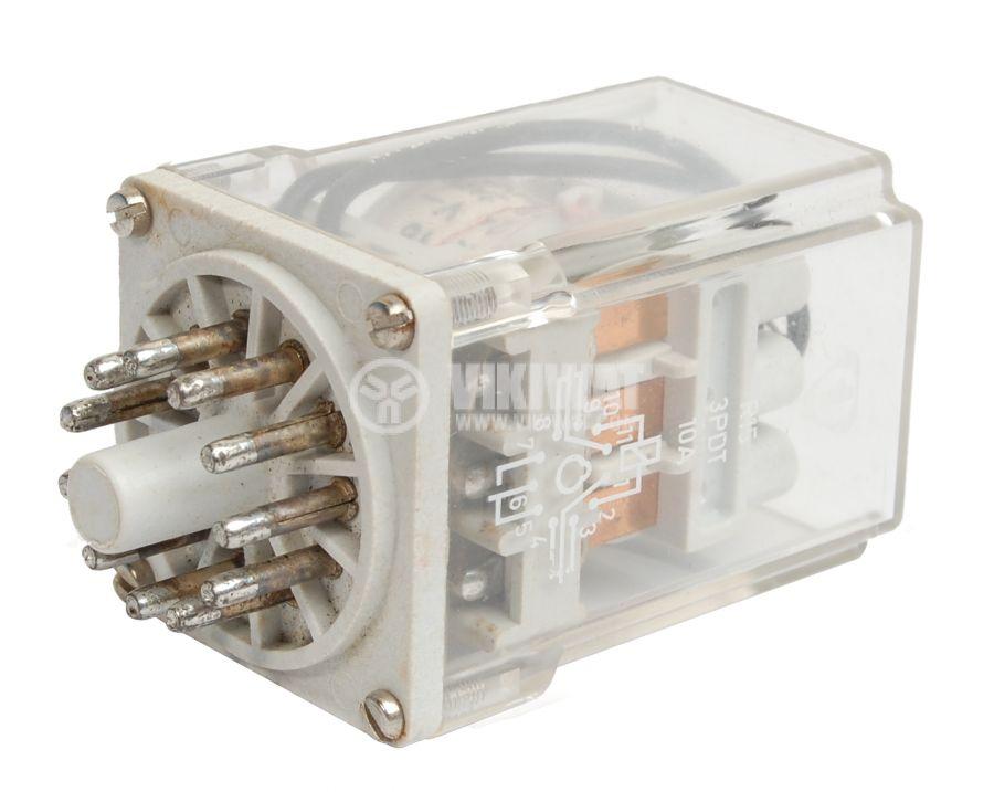Електромагнитно реле универсално, R15, 24VDC 220VAC/5A 3PDT 3NO+3NC - 1