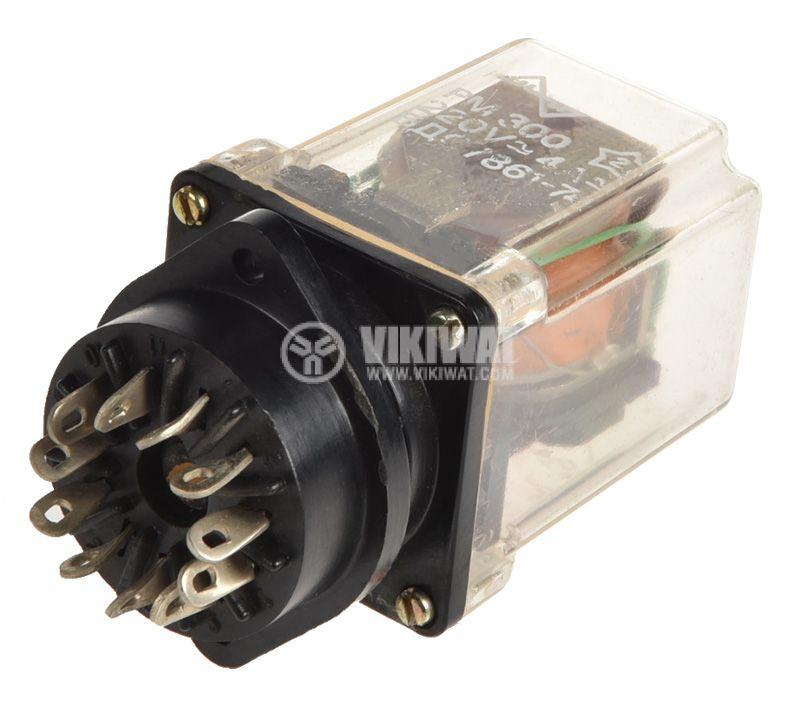 Електромагнитно реле универсално, РМ300, 42VDC 220VAC/4A 3PDT 3NO+3NC - 1