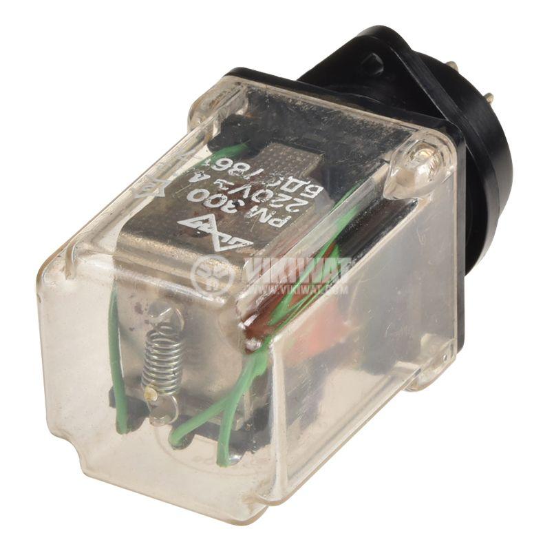 Реле електромагнитно РМ300, бобина 42VDC, 220VAC/4A, 3PDT 3NO+3NC - 3