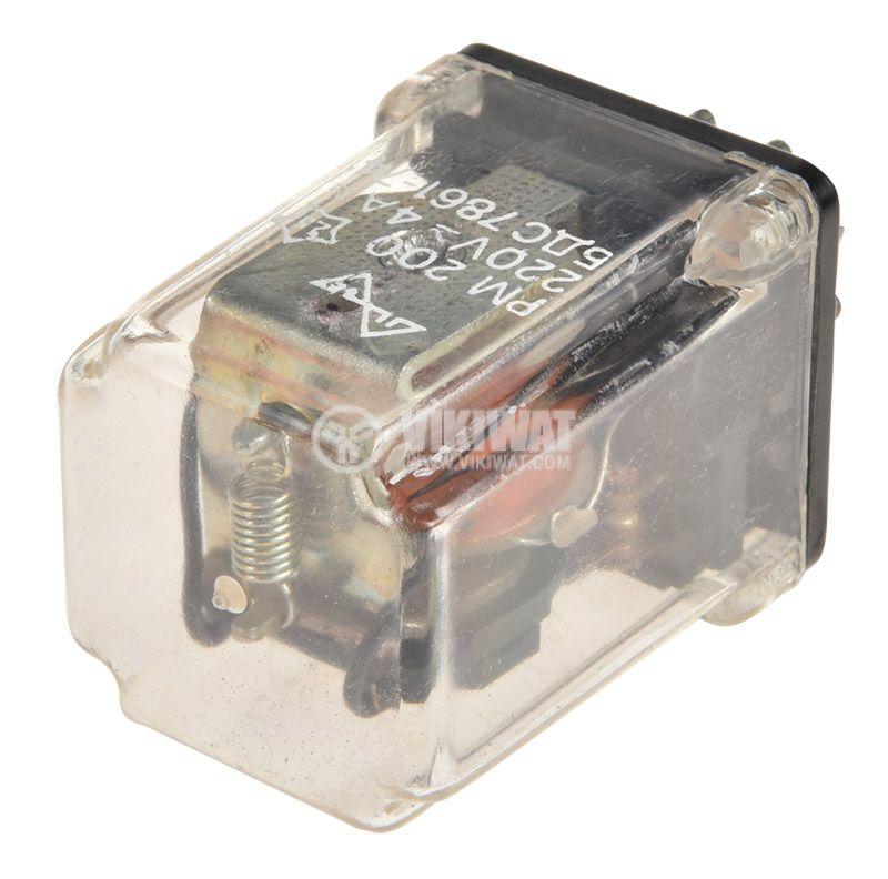 Реле електромагнитно РМ200, бобина 48VDC, 220VAC/4A, DPDT 2NO+2NC - 3
