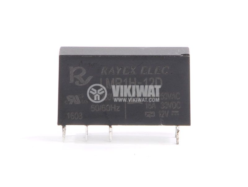 Electromagnetic relay LMR1H-12D, 12 VAC, 1NO + 1NC (SPDT), 250VAC, 30VDC, 16A - 1