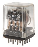 Electromagneticl Relay, PM400, coil 220VDC 220VAC/3A 4PDT 4NO + 4NC