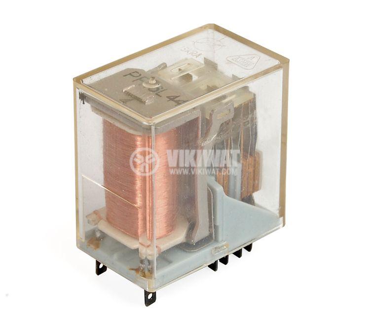 Реле електромагнитно универсално, PR16L44 , 120VDC 250VAC/2A  4PDT-4NO+4NC - 1