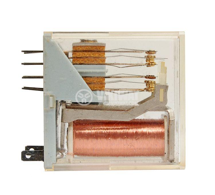 Реле електромагнитно универсално, PR16L44 , 120VDC 250VAC/2A  4PDT-4NO+4NC - 2