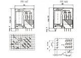 Реле електромагнитно универсално, PR16L44 , 120VDC 250VAC/2A  4PDT-4NO+4NC - 3