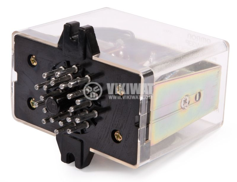 Special Electromagnetic Relay - trigger type with 2 coils, 110 VAC, 250 VAC, 3 A, 3PDT - 3NO +3 NC - 3