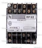Electromechanical Relay coil  24VAC,  4PDT 4NO +4 NC, 250VAC/10A RP92