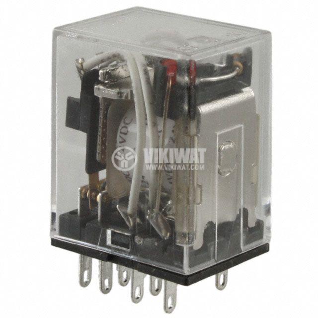 Електромагнитно реле универсално бобина 24 VDC 250VAC/5A 4PDT - 4NO+4NC MY4N