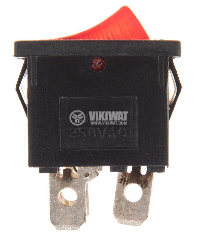Клавишен превключвател, 6A/250VAC, SPST - 2