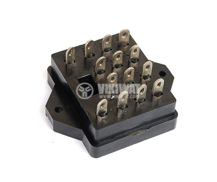 Цокъл за реле GOP-14, 300VAC, 10А, 14pin, печатен - 3