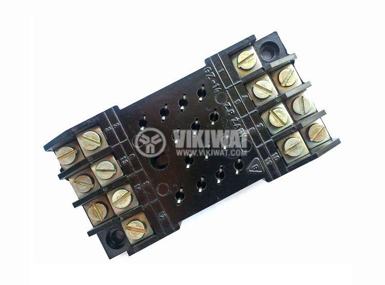 Цокъл за реле GZ-14, 300VAC, 10А, 14pin, панелен - 1
