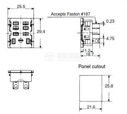Цокъл за реле HL2-SS, 300 VAC, 10 А, 8 pin - 2