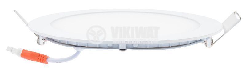 LED панел за вграждане 16W, кръг, 220VAC, 1180lm, 6400K, студенобял, ф190mm, SLIM, BL07-1620 - 5