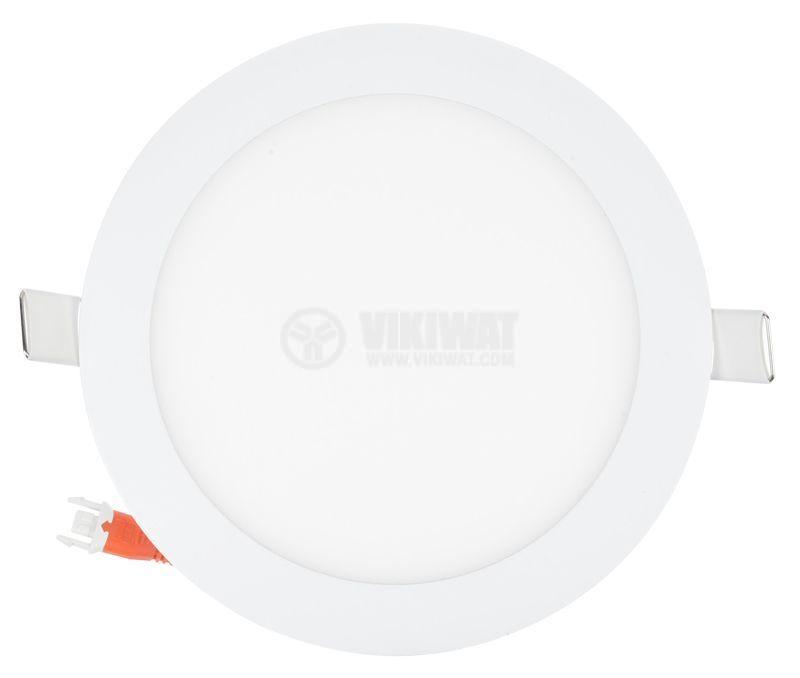 LED панел за вграждане 16W, кръг, 220VAC, 1180lm, 6400K, студенобял, ф190mm, SLIM, BL07-1620 - 6