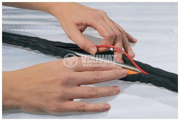 Оплетка за кабели, полиестерна, 5m, Ф13mm, черна, Helagine Twist-In 13, HellermannTyton, 170-01013  - 3