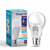 LED lamp 8W, E27, А60, 220VAC, 600lm, 6500K, cool white, emergency, BA14-30830, rechargeable - 2