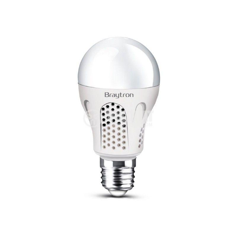 LED lamp 8W, E27, А60, 220VAC, 6500K, cool white, emergency, BA14-30830, rechargeable - 1