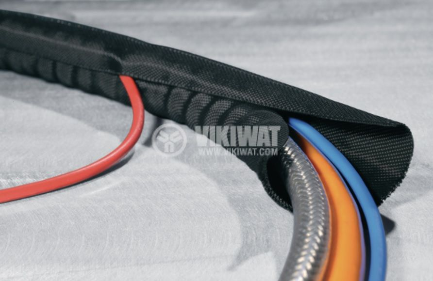 Оплетка за кабели полиестер PET, дължина 2 метра, 16-19мм, HellermannTyton 170-01014 - 3