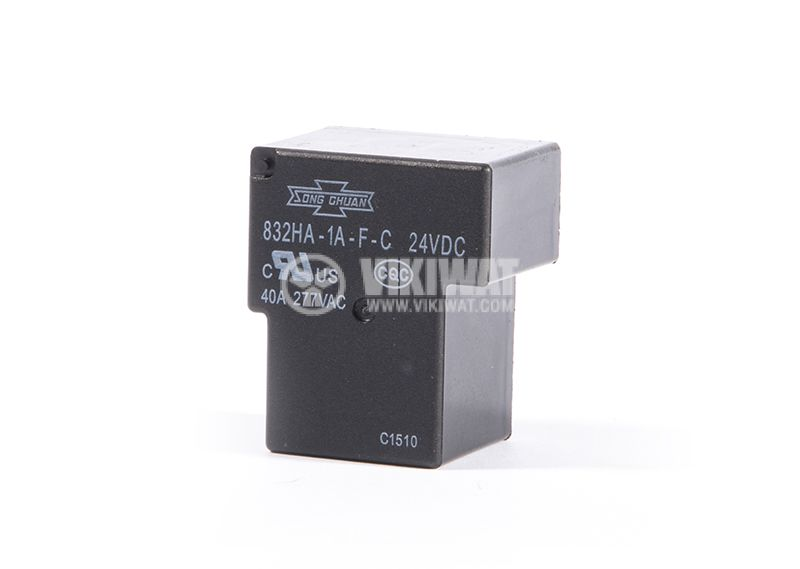 Electromechanical Relay SONG CHUAN 832HA-1-F-C, 1NO, 24VDC, 40A, 277VAC, PCB - 1