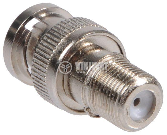 Connector adapter  CON F / BNC M - 2